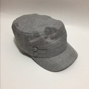 Accessories - Silver hat with buttons. Like new.